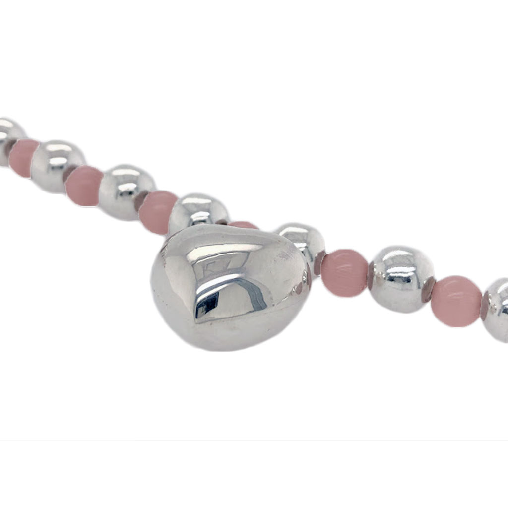 Pink-cat-eye-silver-bracelet-detail-Nueve-Sterling